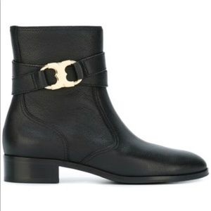 Tory Burch Gemini Buckle Ankle Boots